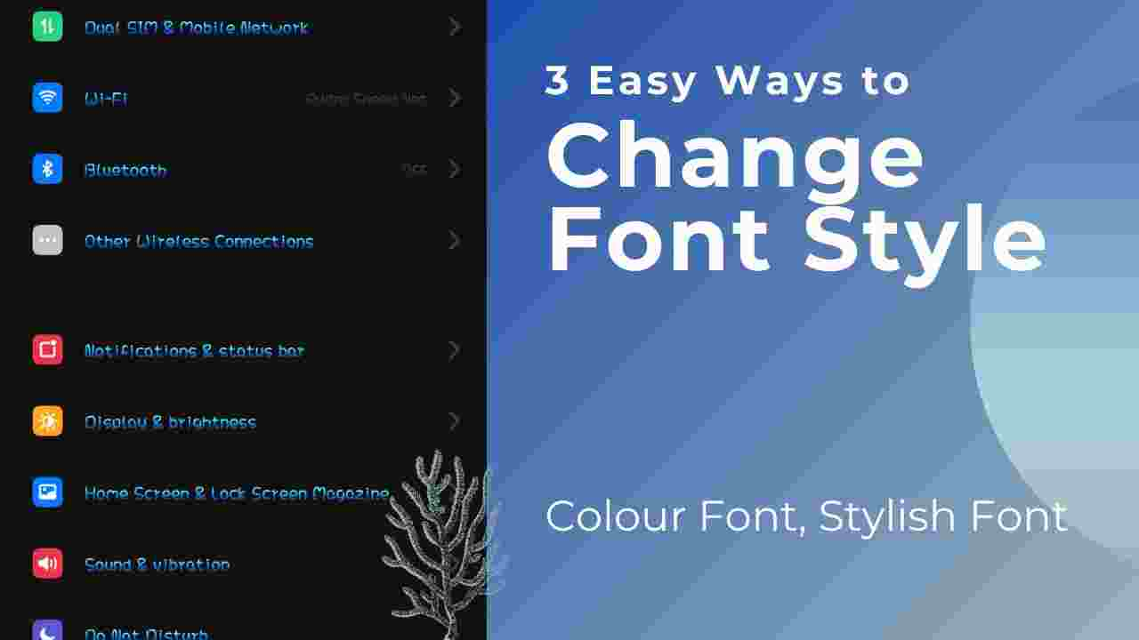 Change Font Style
